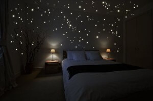 Wandkings Leuchtpunkte für Sternenhimmel Wandsticker