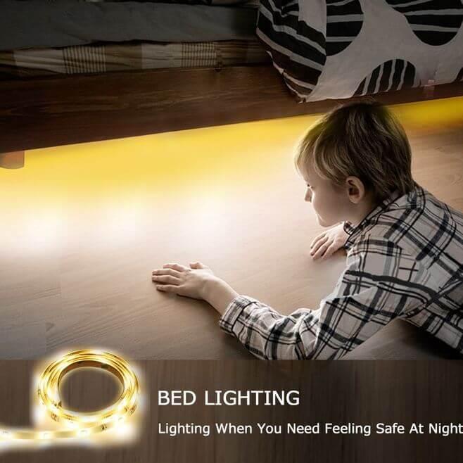 lichtleiste mit bewegungsmelder ideal f rs schlafzimmer schlafgadgets. Black Bedroom Furniture Sets. Home Design Ideas